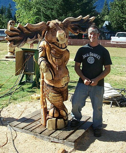 Moose Sculpture - The Mounty Moose Of Hope Canada by Chris Foltz