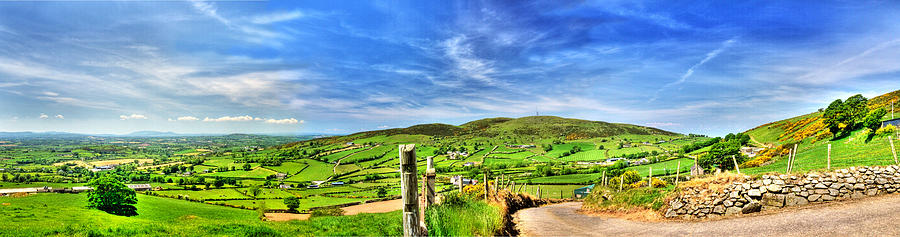 Hills Photograph - The Mournes Far And Wide by Kim Shatwell-Irishphotographer