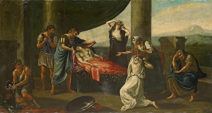 Kingdom Painting - The Mourning Of Alexander The Great by Karl Von Piloty