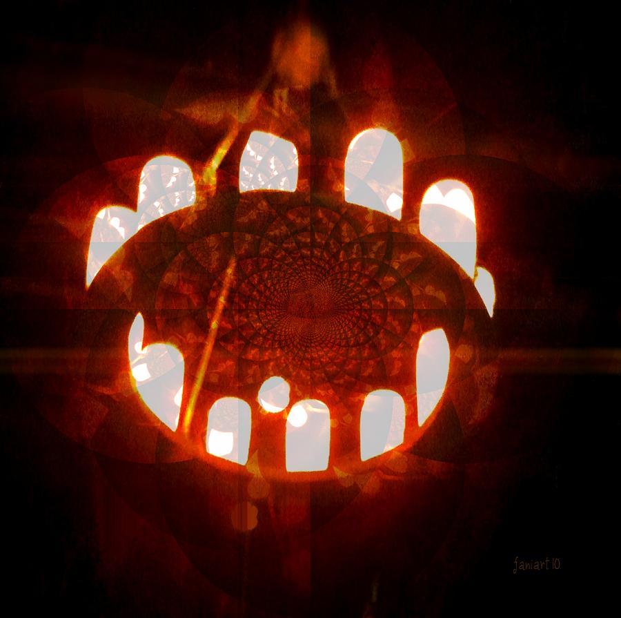 Fania Simon Digital Art - The Mouth Of The World - Forever Hungry by Fania Simon