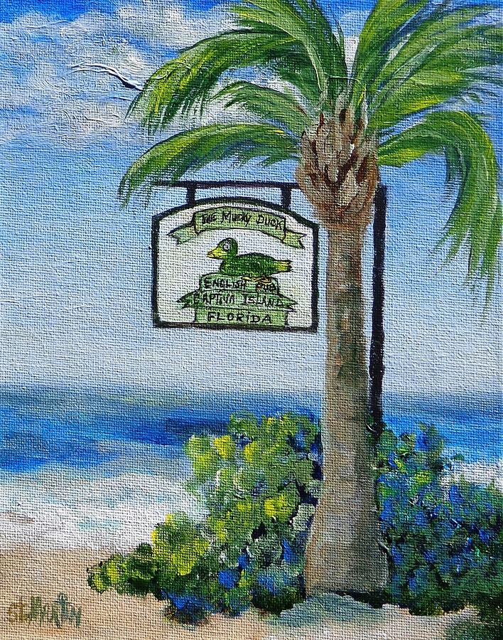 Island Life Painting - The Mucky Duck Captiva Island Florida by Annie St Martin