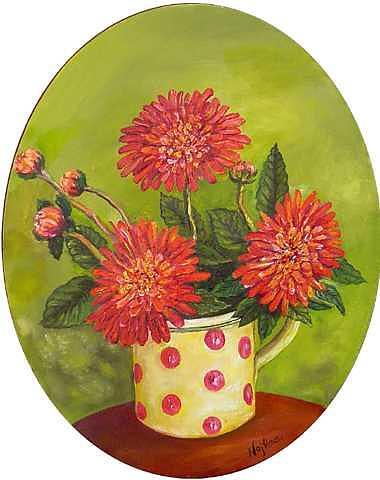 The Mug Painting by Najlaa Mahmoud