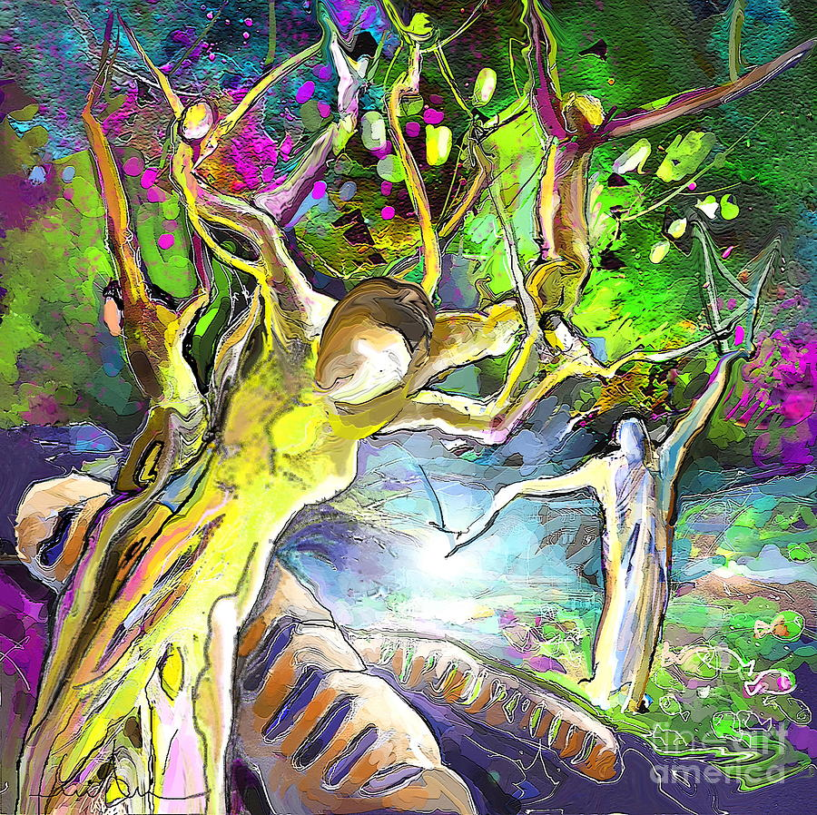 Bible Painting - The Multiplication Of Bread by Miki De Goodaboom
