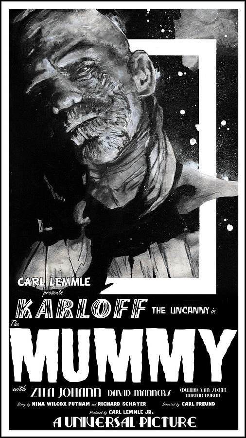 The Mummy 1932 movie poster  by Sean Parnell