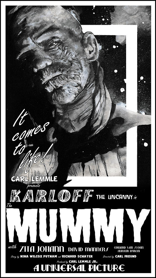 The Mummy 1932 movie poster with tagline by Sean Parnell