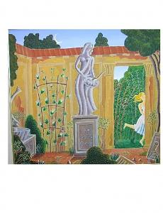 The Muse In The Garden Painting by Thomas McKnight