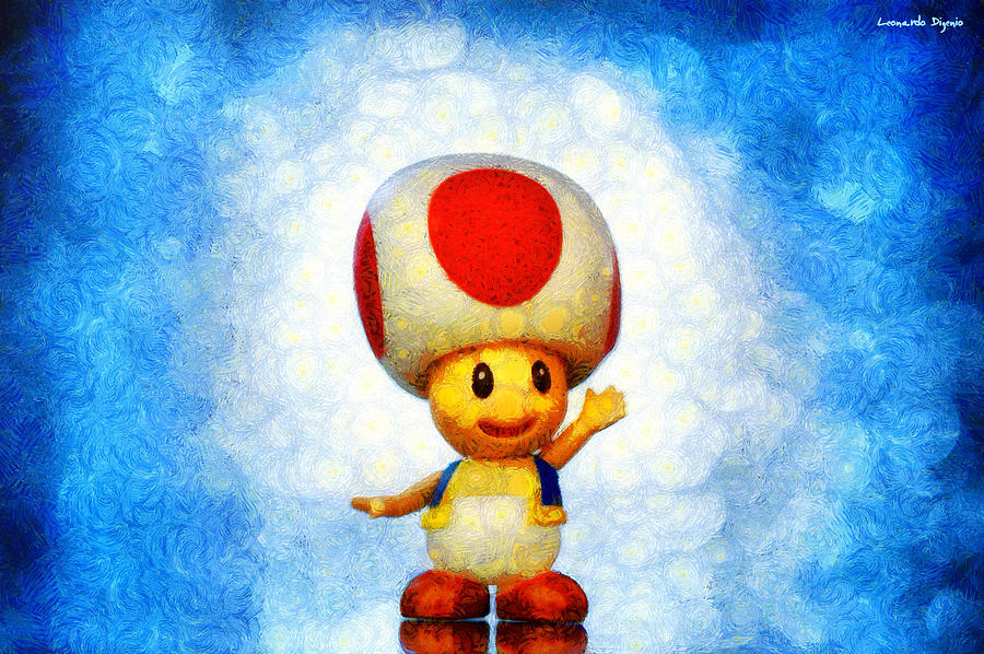 Snowman Digital Art - The Mushroom 56 - Da by Leonardo Digenio