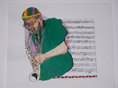 Jazz Saxophonists Drawing - The Music In Me by Glenn Isaac