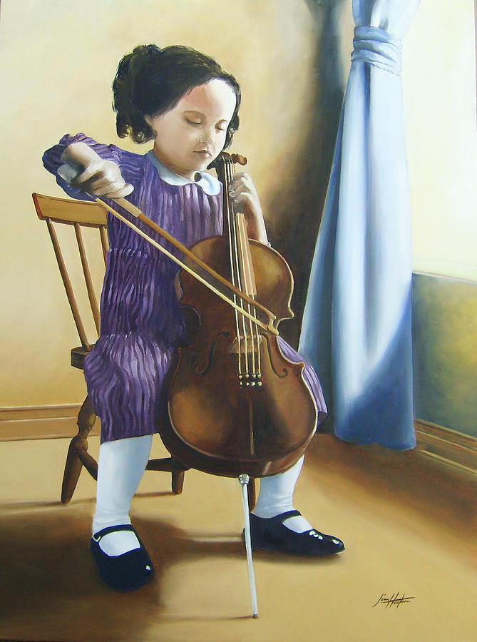 Tuscany Painting - The Music Lesson by Jim Horton