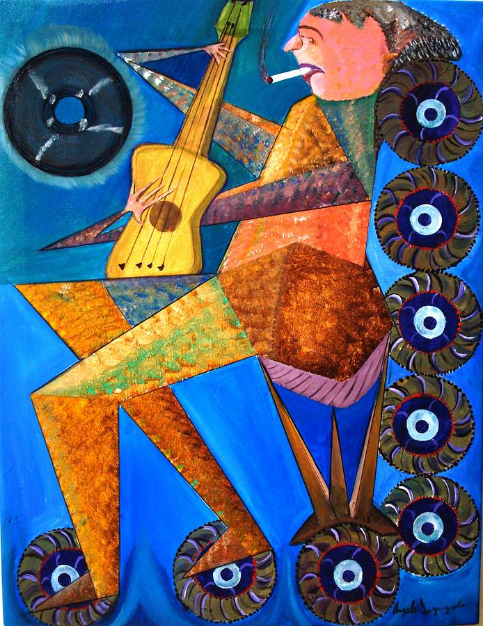 Music Painting - The Music Man by Angelo Ingargiola