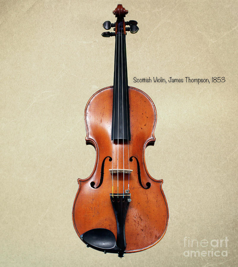 Violin Photograph - The Music Of 1853 by Steven Digman