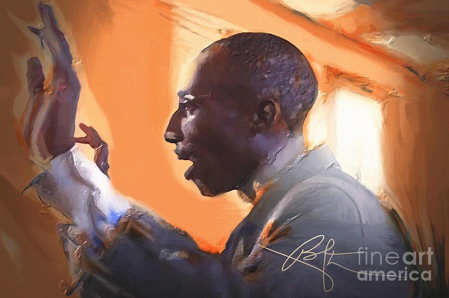 Haiti Painting - The Musical Director by Bob Salo