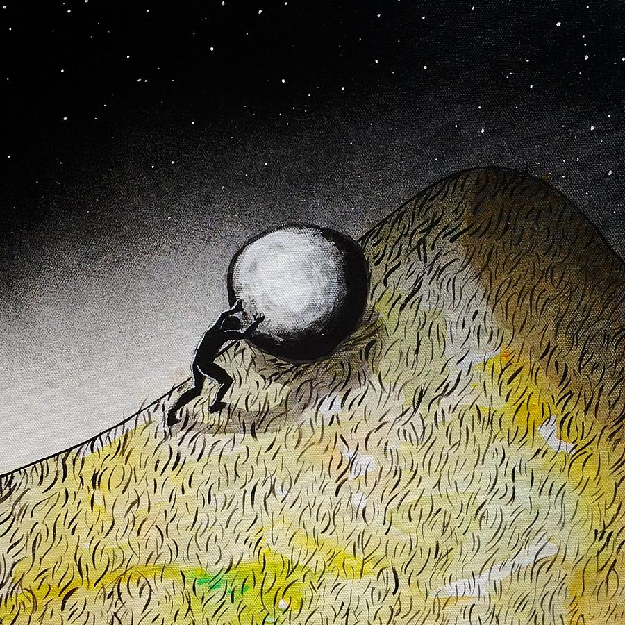 the myth of sisyphus painting by nicci bedson sisyphus painting the myth of sisyphus by nicci bedson