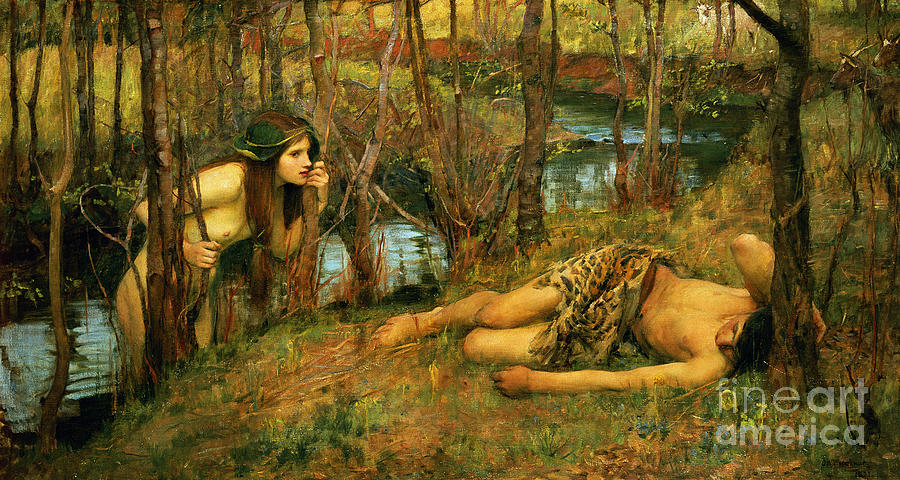 The Painting - The Naiad by John William Waterhouse