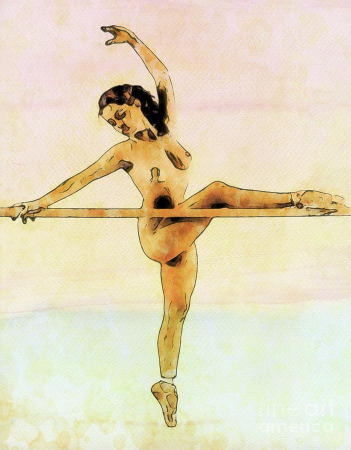 The Naked Ballerina By Mary Bassett Digital Art