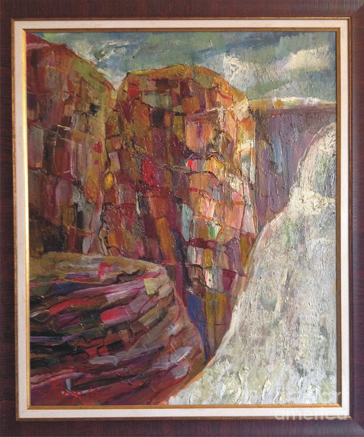 Abstract Painting - The Name Of Paradise Is Jermuk by Michael Mirijan
