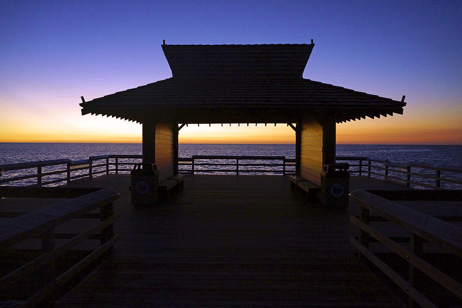 The Naples Pier at Twilight - 02 by Robb Stan