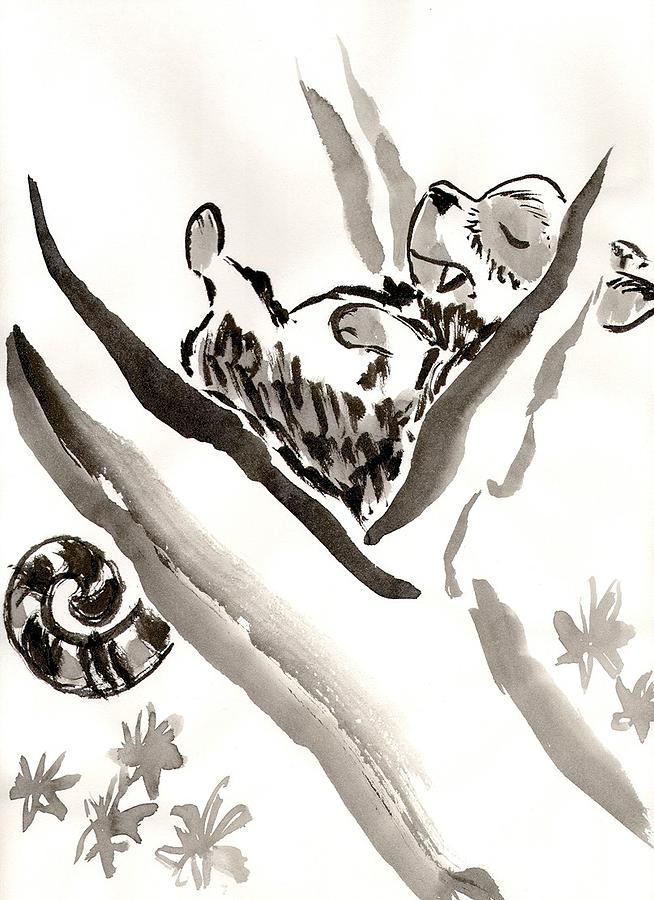 Sleep Painting - The Napping Tree by C Casey Gardiner