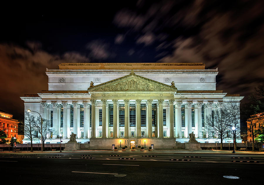 Washington Dc Photograph - The National Archives by Ryan Wyckoff