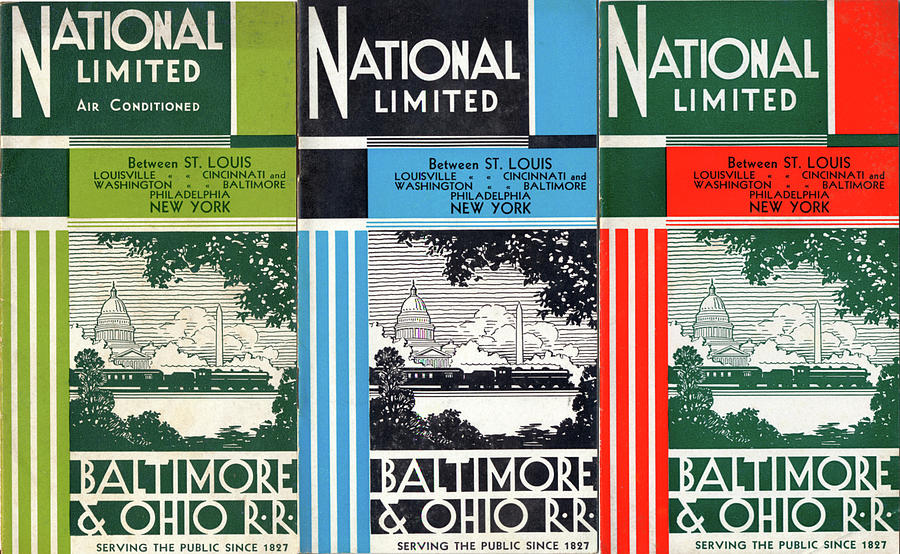 The National Limited Collage by Baltimore and Ohio Railroad