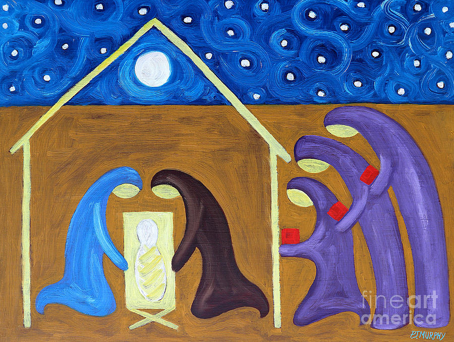 Winter Painting - The Nativity by Patrick J Murphy