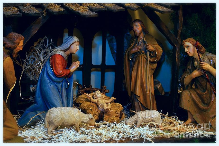 The Nativity Scene - Border Photograph