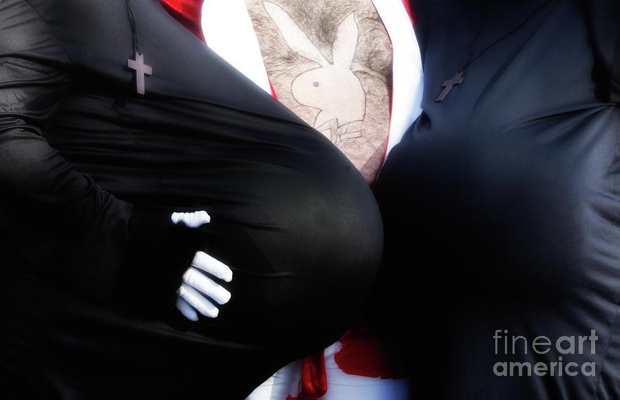 Nun Photograph - The Naughty Nuns  by Steven Digman