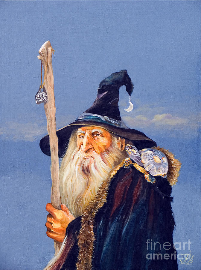 Wizard Painting - The Navigator by J W Baker