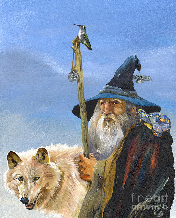 Wizard Painting - Road Trip by J W Baker