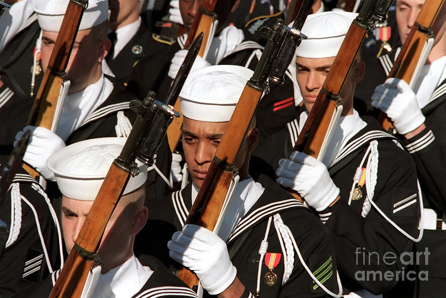 Horizontal Photograph - The Navy Ceremonial Honor Guard by Stocktrek Images