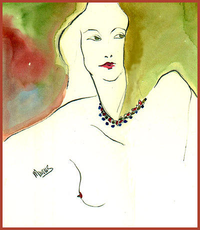 The Necklace Painting by Leslie Marcus