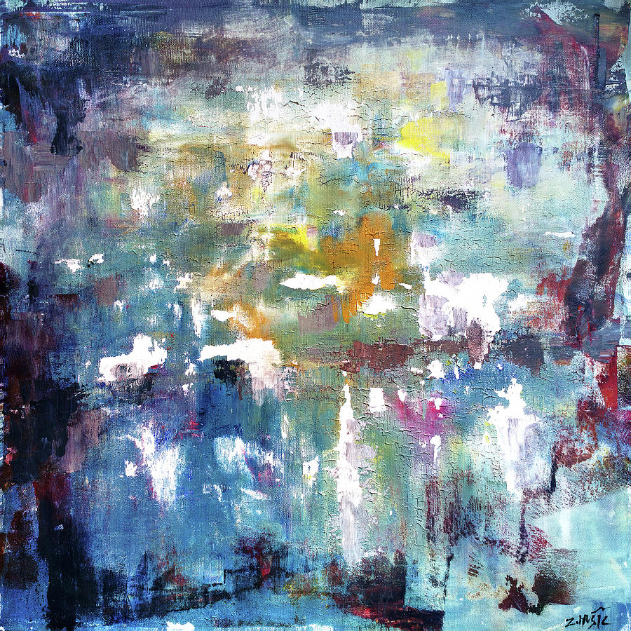 0bdccac9f Contemporary Artist Painting - The Need For Existence, Abstract Art Painting  by Zlatko Music