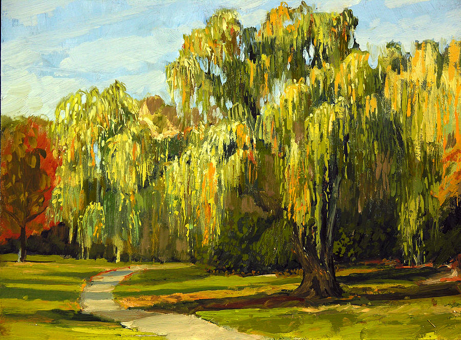 Plein Air Painting - The Nemesis Tree by Anthony Sell