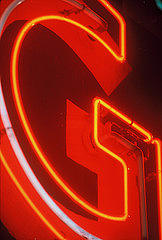 G Photograph - The Neon G by Billy Tucker