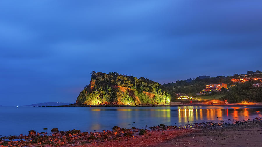 Ness Photograph - The Ness, lit up at night. by A J Paul