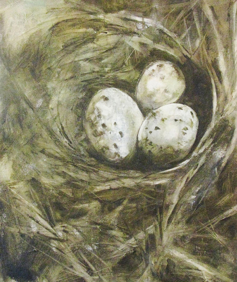 Birds Painting - The Nest by Donna Thomas