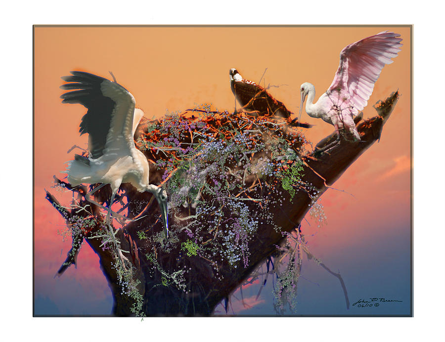 The Nest Painting by John Breen
