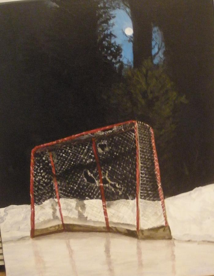 Hockey Net Painting - The Net. by Betty-Anne McDonald