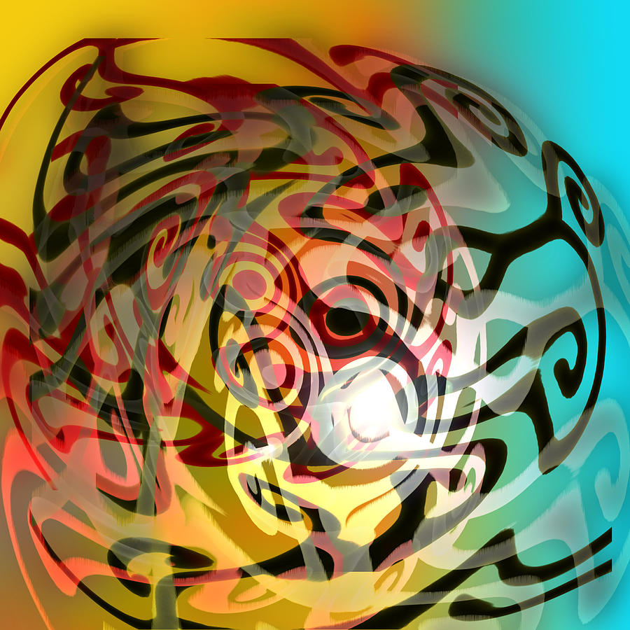 Abstract Digital Art - The Never Ending Static Of The Memory Men by Grant  Wilson