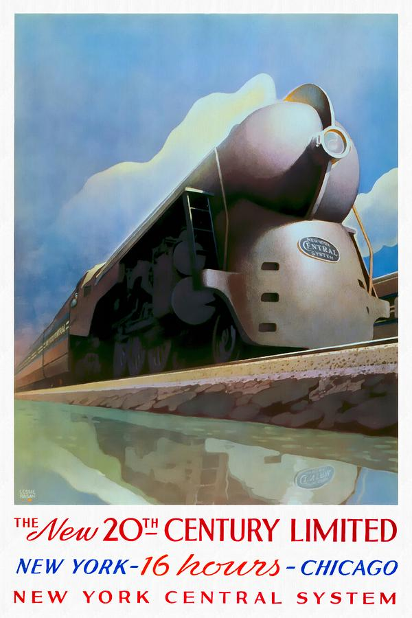 The New 20th Century Limited - Restored by Vintage Advertising Posters