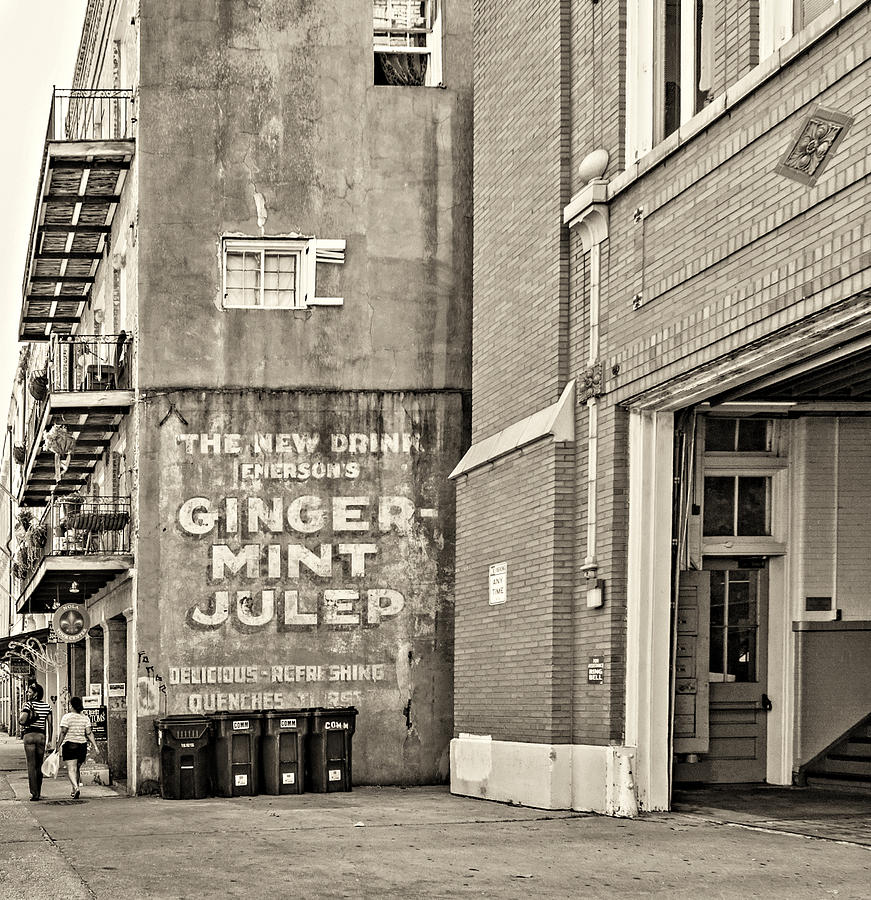 Nola Photograph - The New Drink Sepia by Steve Harrington