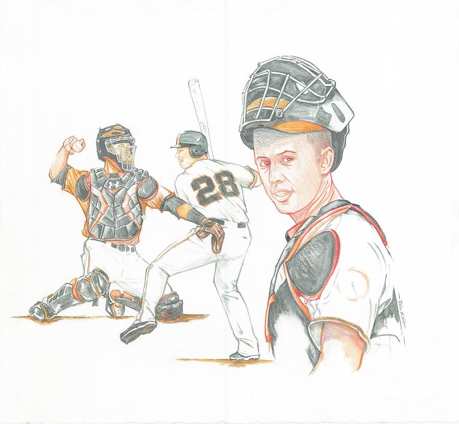 Sports Painting - The New Natural Buster Posey by Phil  King