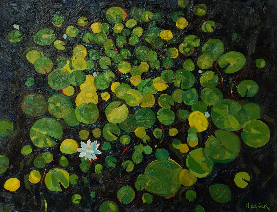 Lily Painting - The New Pad by Phil Chadwick