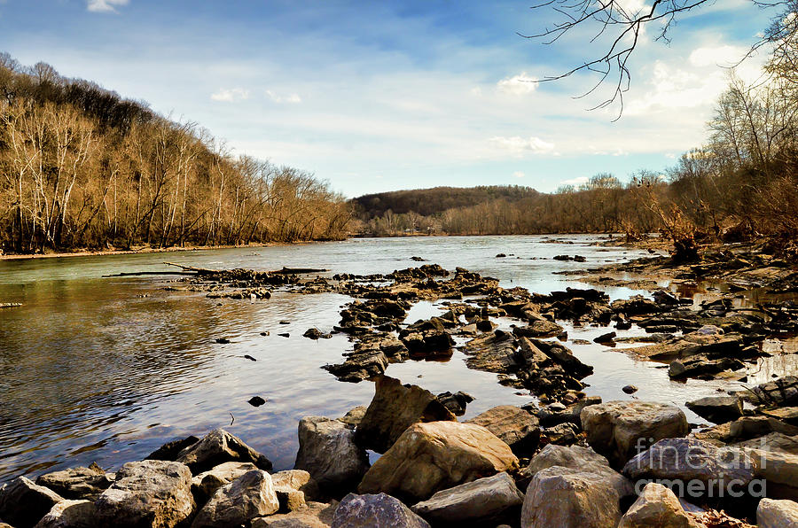 The New River Photograph - The New River At Whitt Riverbend Park - Giles County Virginia by Kerri Farley