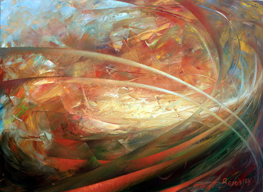 Abstract Paintings Painting - The New Worlds Birth by Arthur Braginsky