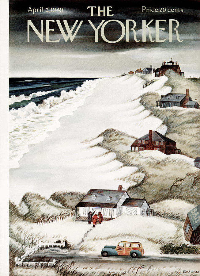 New Yorker April 2nd, 1949 Painting by Edna Eicke