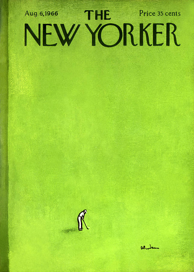 The New Yorker Cover - August 6th, 1966 Painting by Abe Birnbaum
