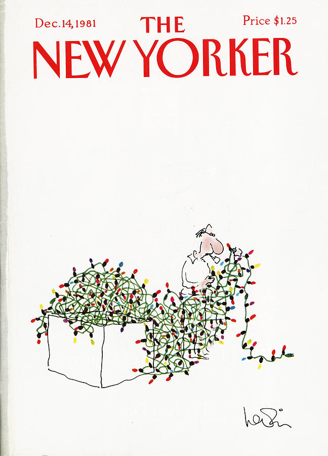 The New Yorker Cover - December 14th, 1981 Painting by Arnie Levin