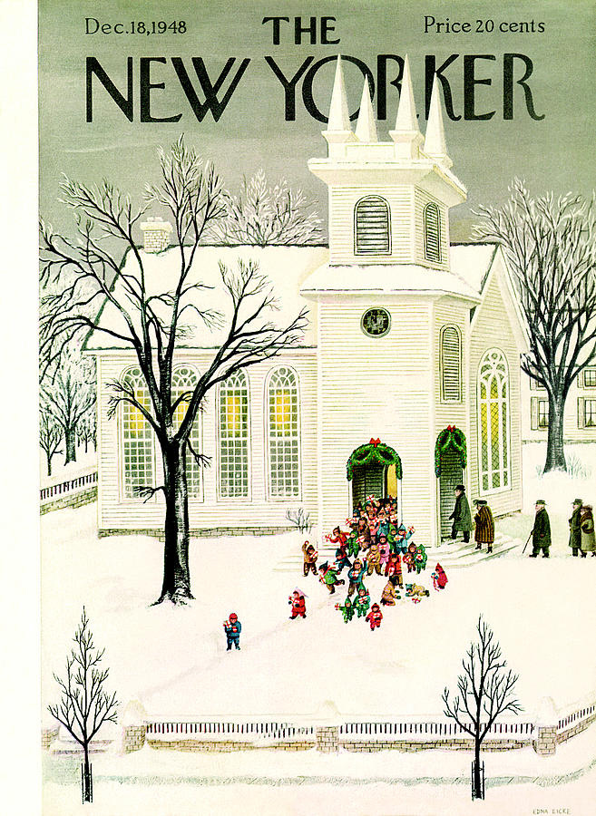 New Yorker December 18, 1948 Painting by Edna Eicke