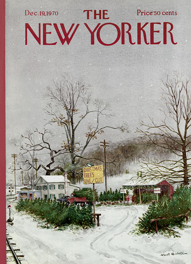 The New Yorker Cover - December 19th, 1970 Painting by Albert Hubbell